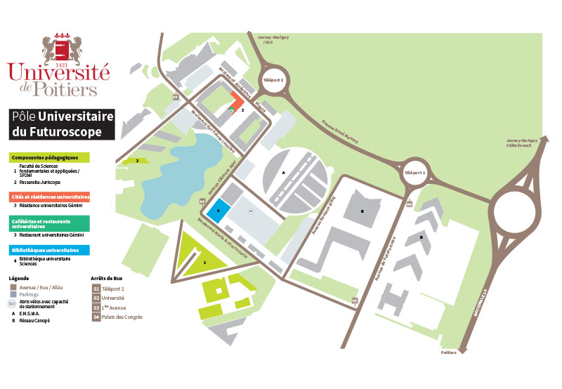 Plan du campus Futuroscope