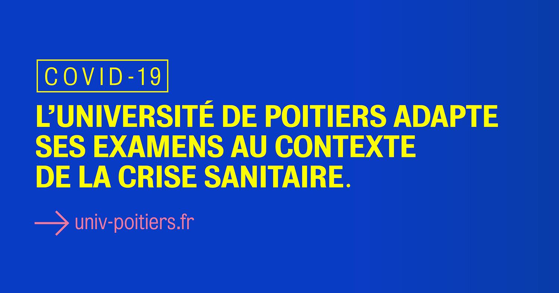 L'université de Poitiers adapte l'organisation des examens au contexte de la crise sanitaire