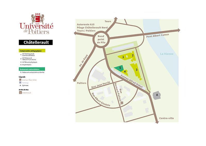 Plan du campus de Châtellerault